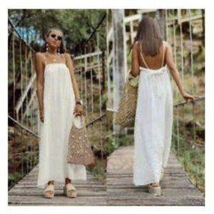 [SOLD]NWT Zara XS Ecru Flowy Textured Dress